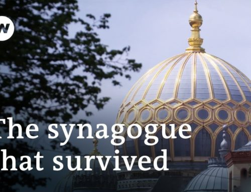 The Berlin synagogue with the golden dome